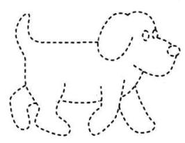 службе картинка по точкам собачка начинайте шлейф юбки